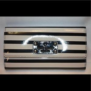 2/$40 KateSpade Stripe Black&Cream Stripe Wallet